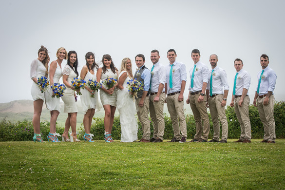 A colourful wedding by the sea