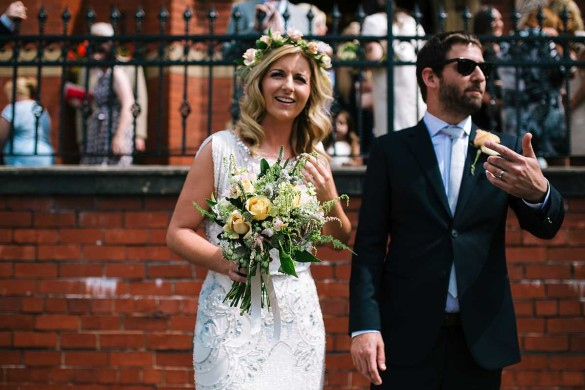 A fabulously floral summer wedding