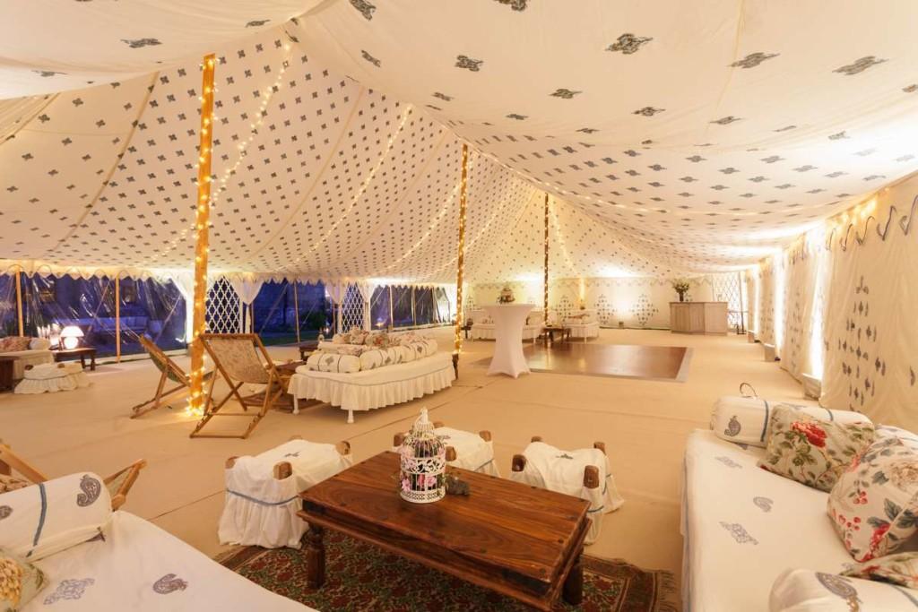Arabian-Tent-Company-Indra-pole-tent-interior-in-Cornish-Cream 4
