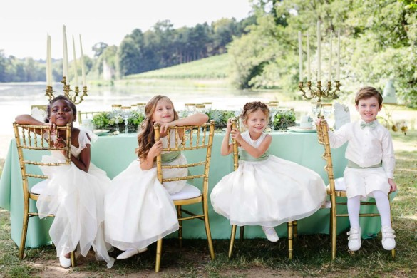Flower girls at Little Bevan