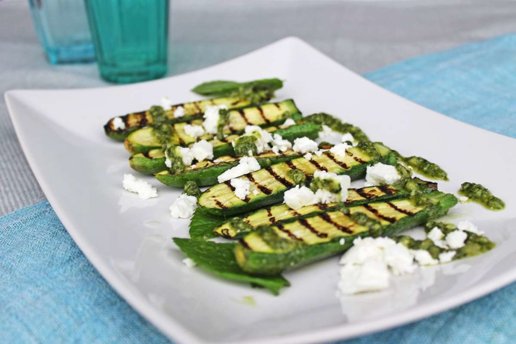 KempandKempcatering.co.uk Italian Food - Griddled Baby Courgettes with Mint Oil and Feta (3)