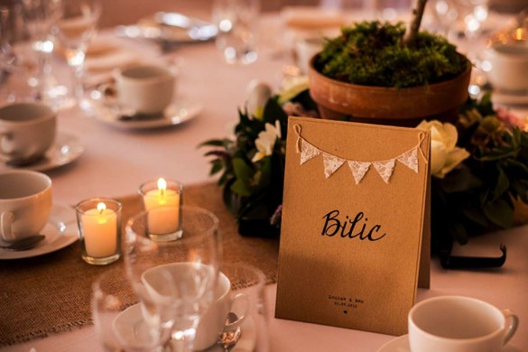 A chic wedding with personal touches