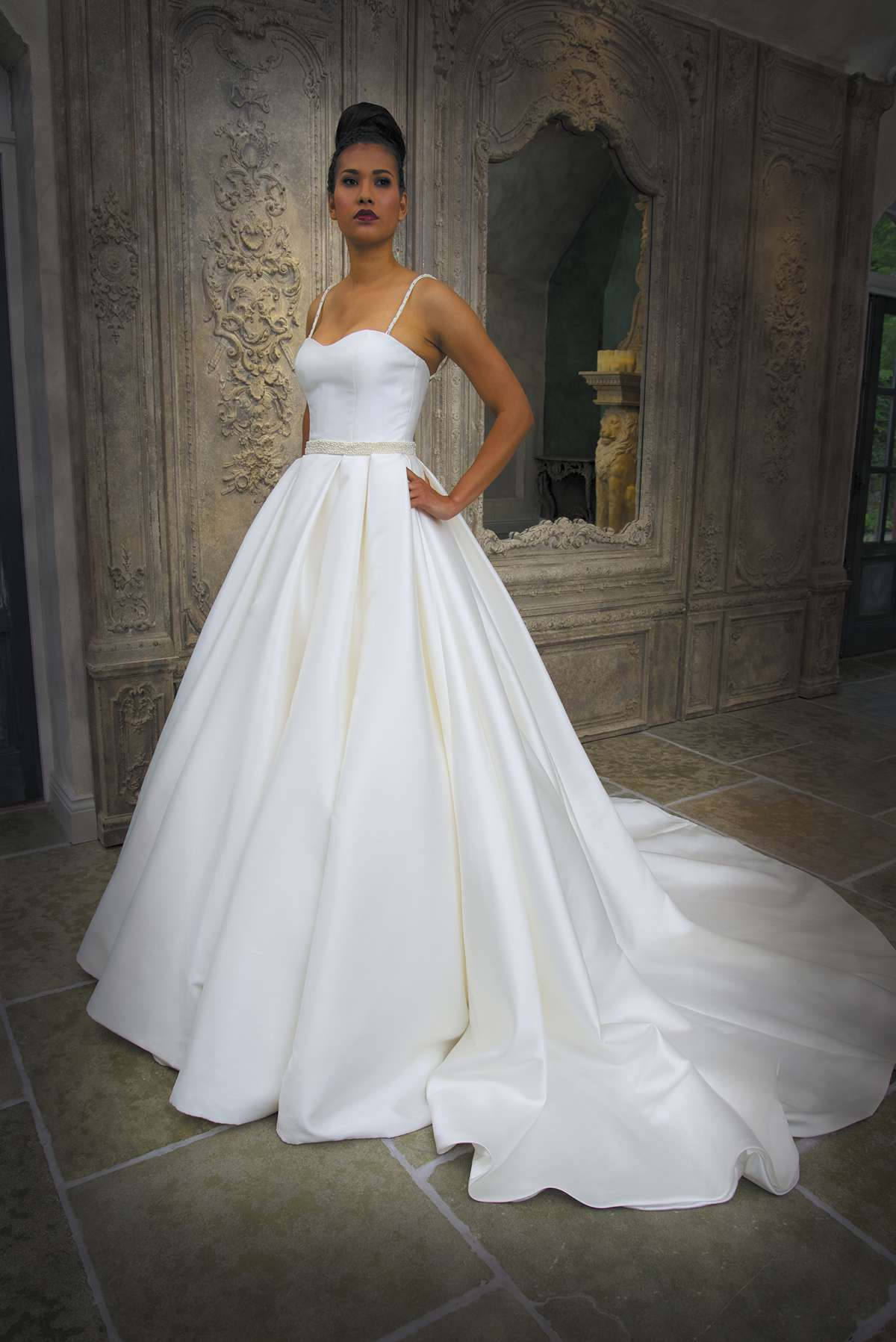 Glamorous designs from grace philips love our wedding for Circle skirt wedding dress