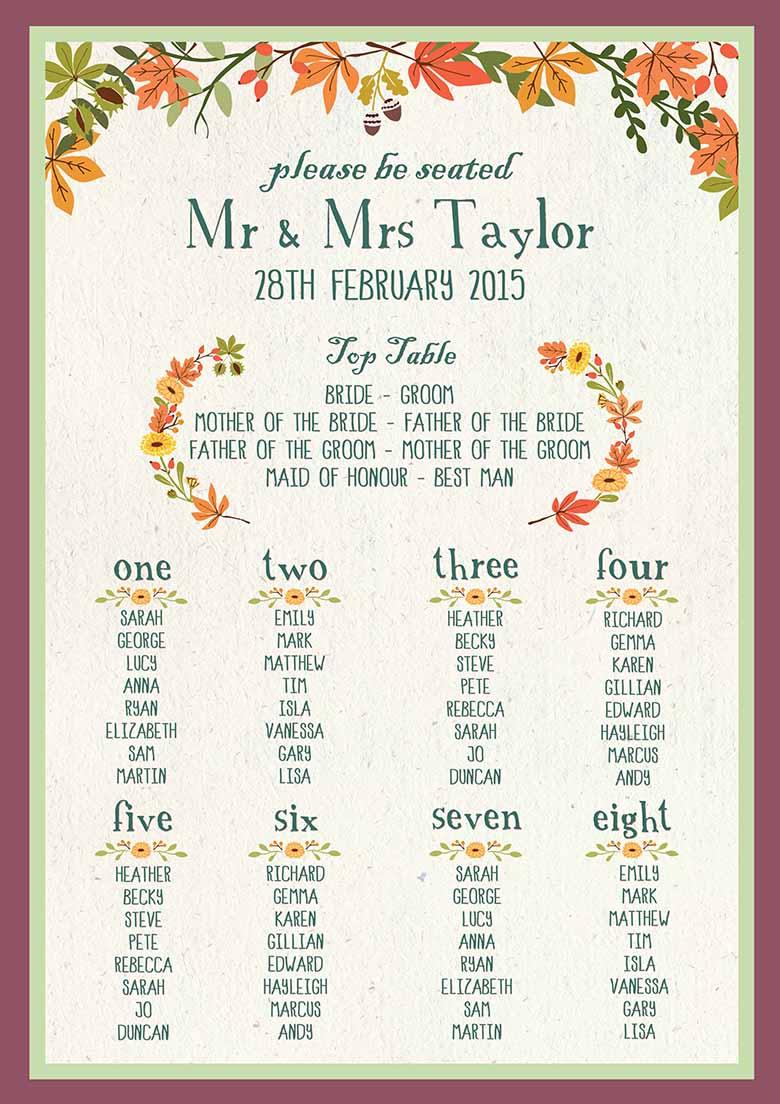 Pretty Autumn wedding ideas - Love Our Wedding