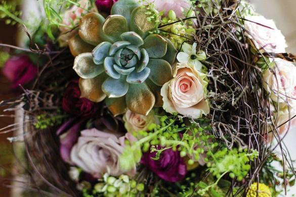 A winter wedding with a modern twist