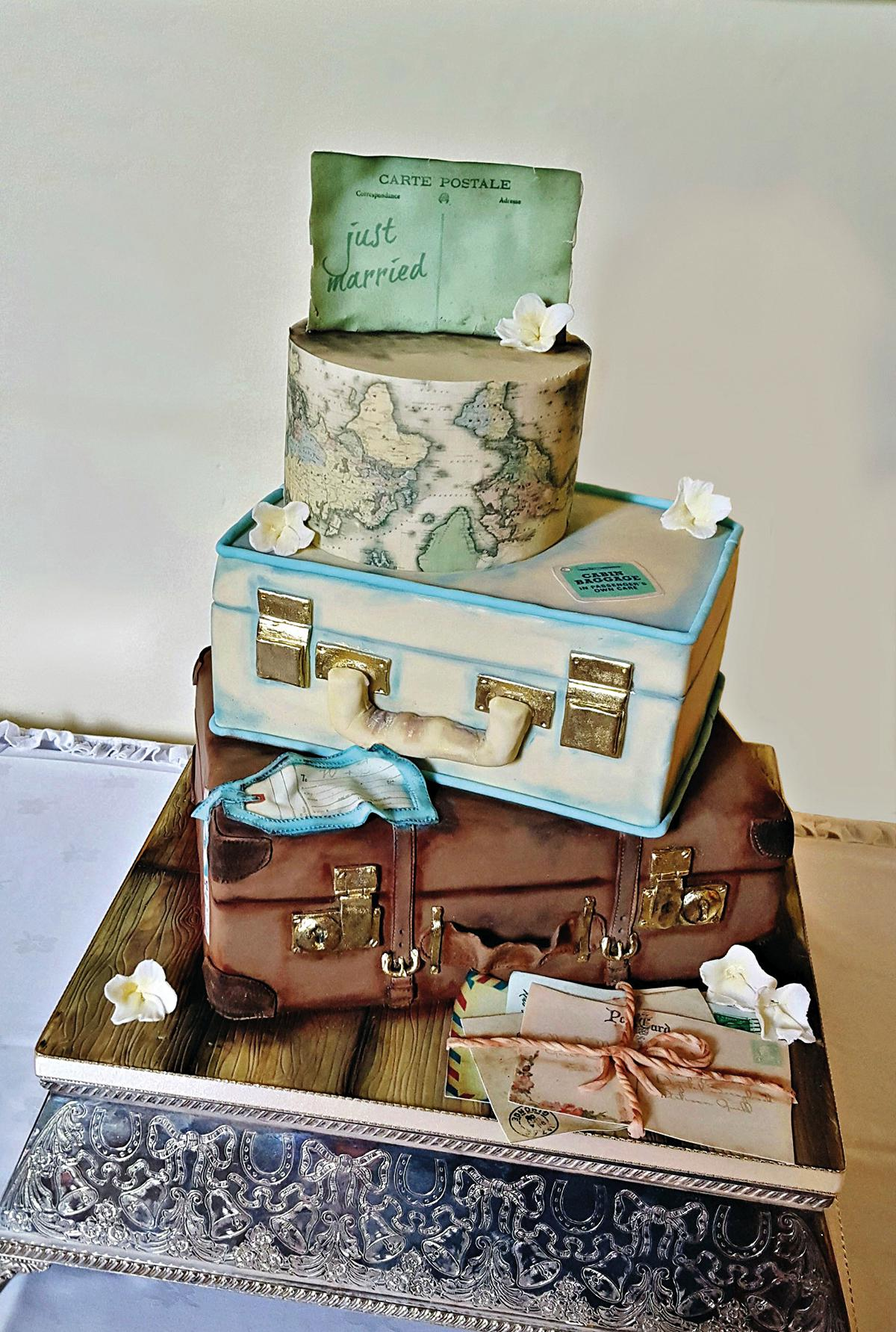 Vintage Book Themed Wedding Cake