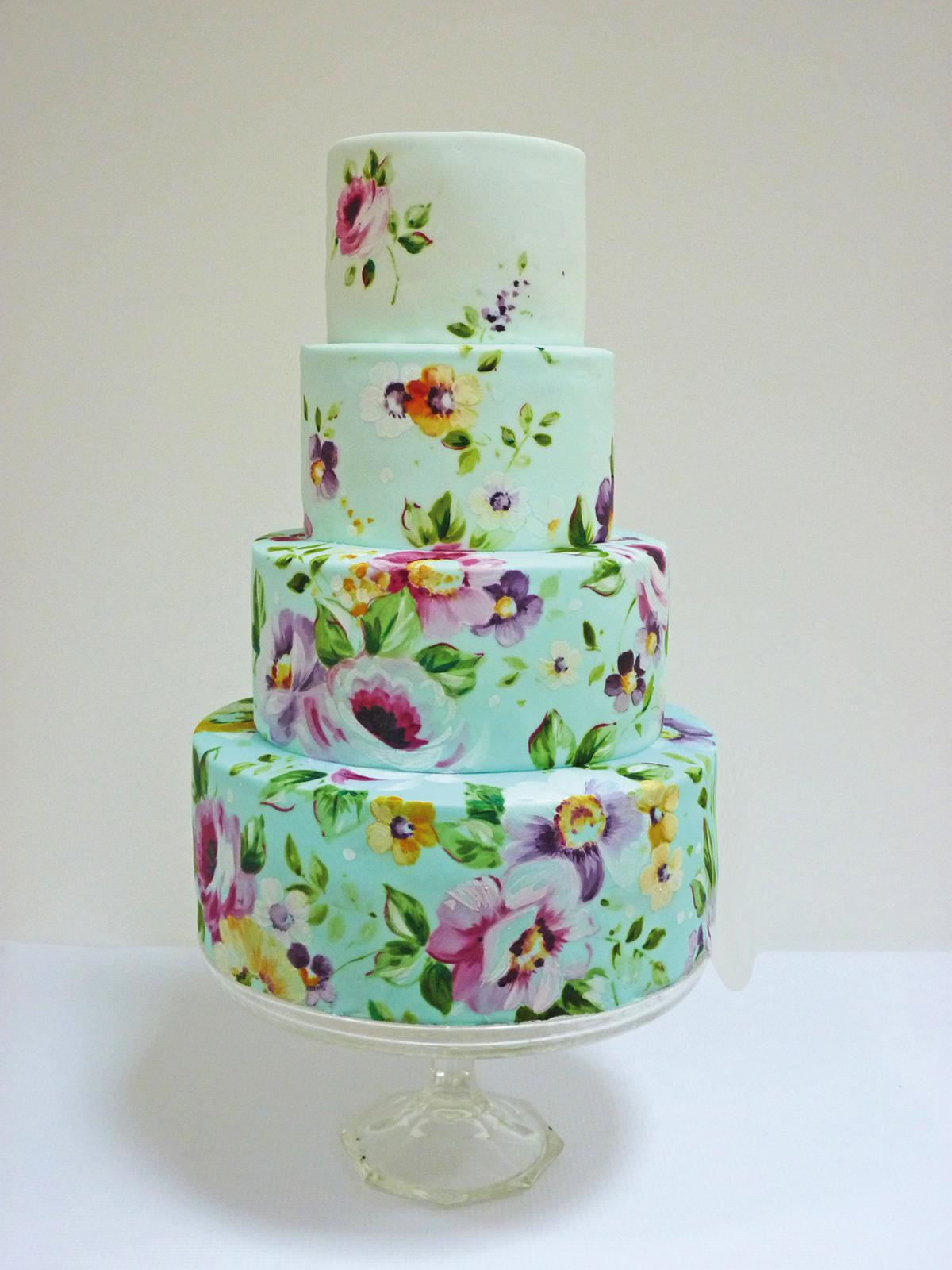 Floral wedding cakes - Nevie-pie cakes