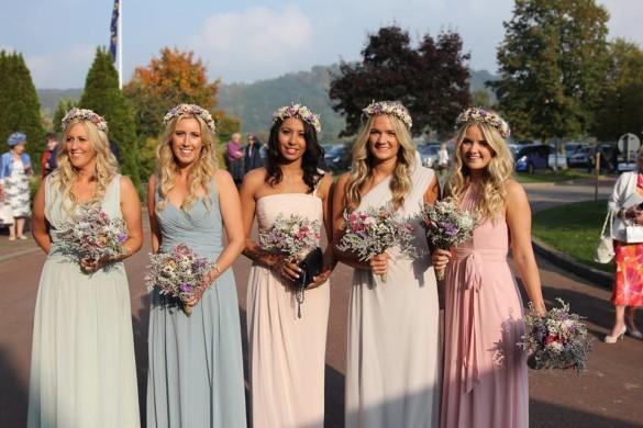 Boho wedding look