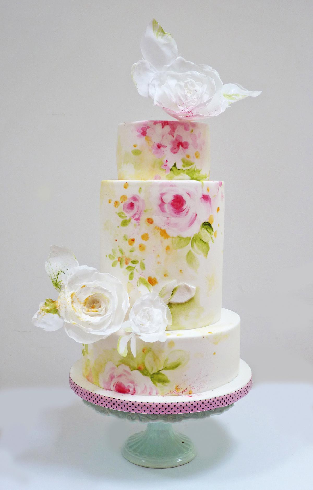 Floral wedding cakes - Nevie pie cakes