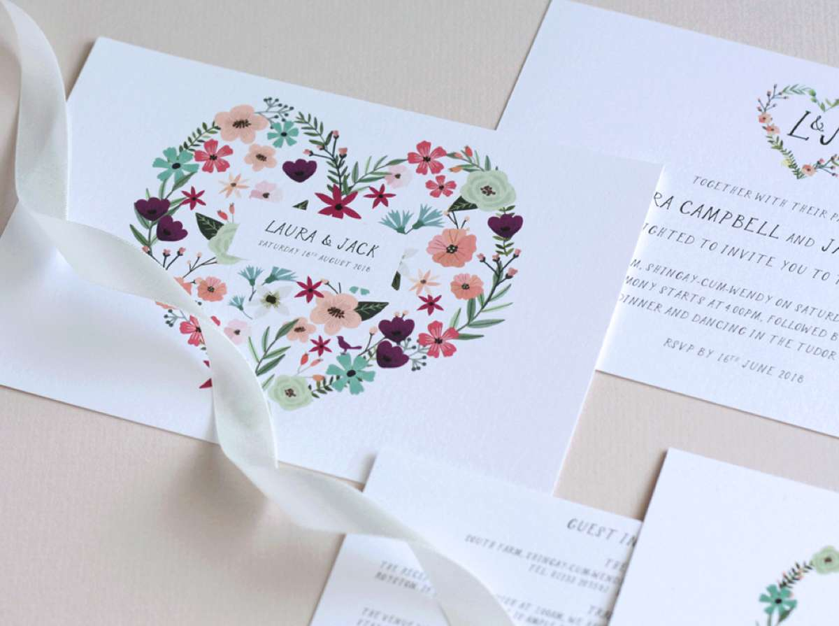 floral-heart-wedding-stationery