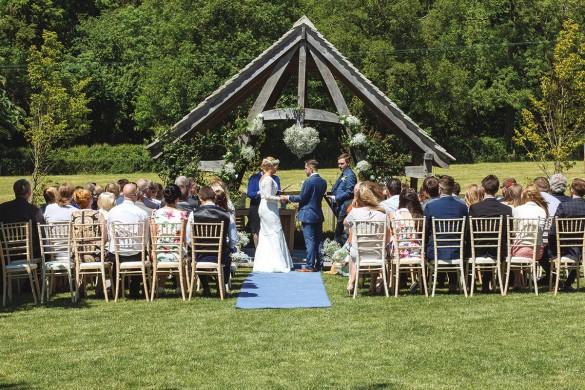 A rustic outdoor wedding