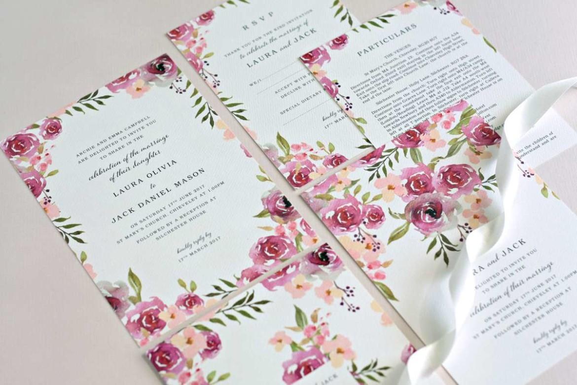 Choosing your wedding stationery