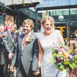 A colourful summer wedding