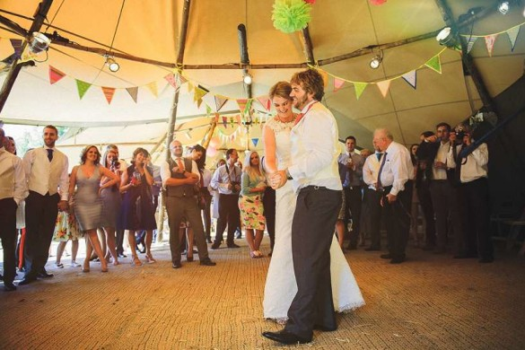 A colourful summer wedding