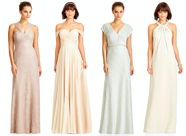 Mix and match bridesmaid dresses from Dessy - Love Our Wedding