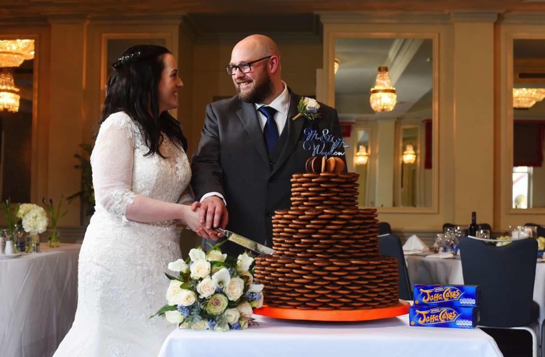 jaffa wedding cake