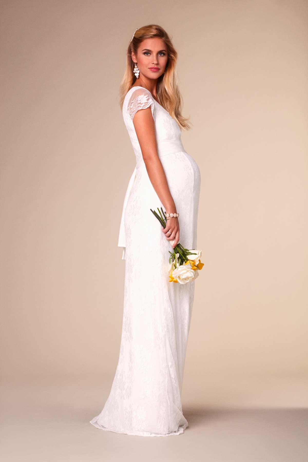 Stunning maternity wedding dresses love our wedding for Nursing dresses for wedding