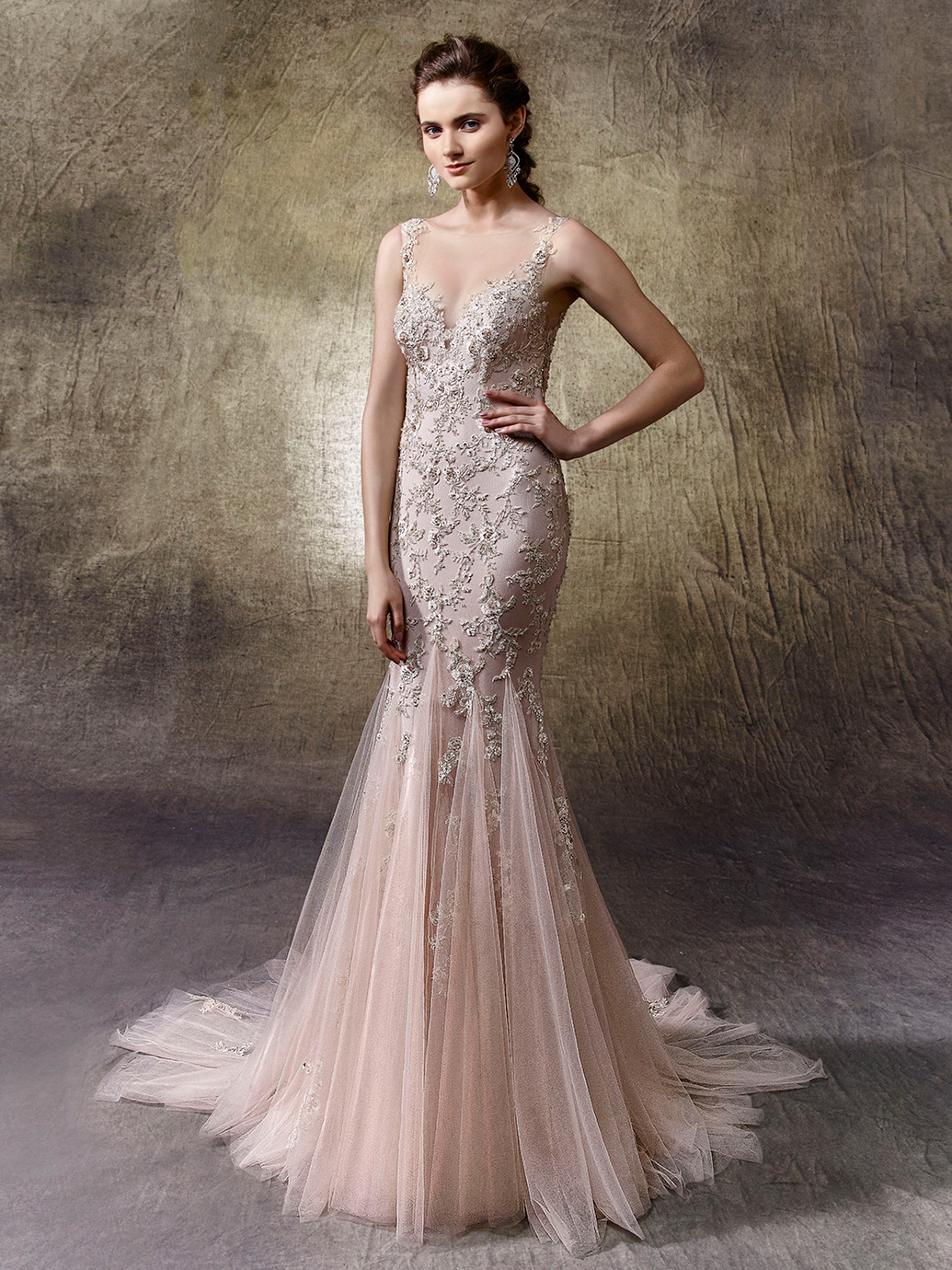 5 non white wedding dresses from enzoani love our wedding linette ombrellifo Gallery