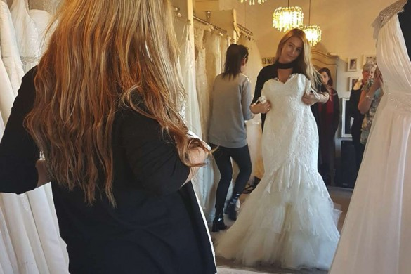 Francesca won her dream Modeca wedding dress