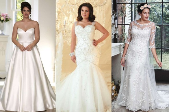 Plus-size wedding gowns