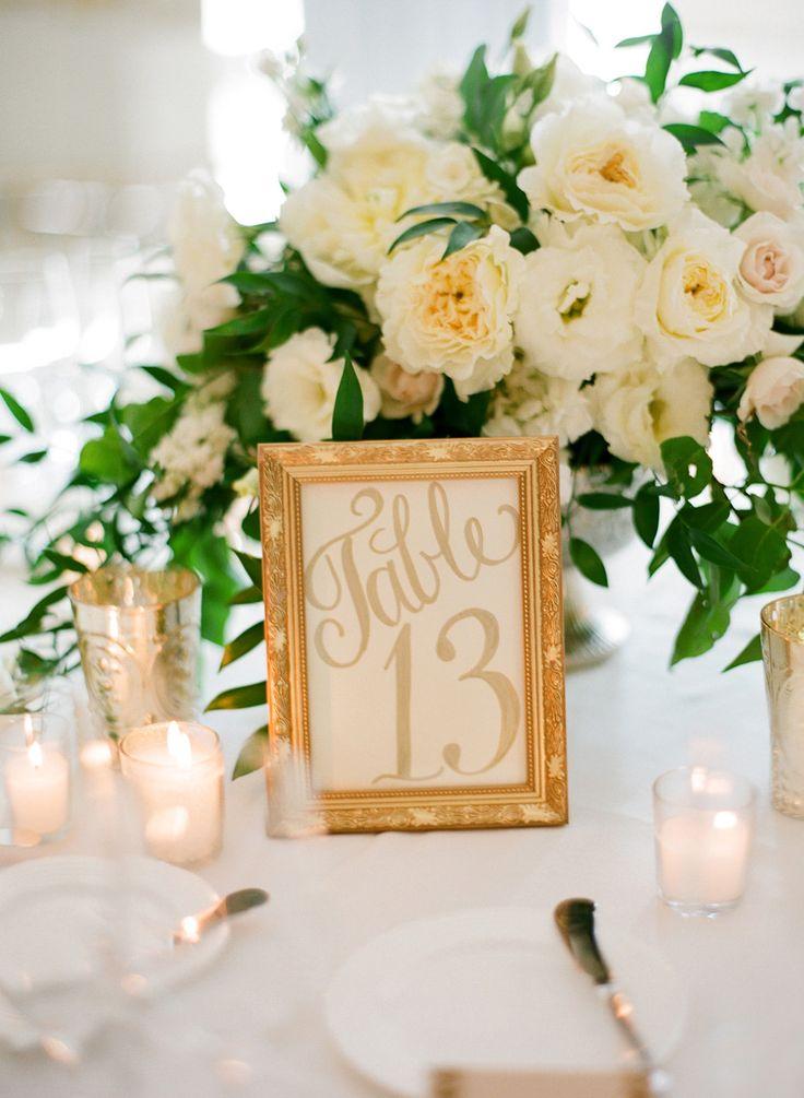 DIY weddings - table numbers