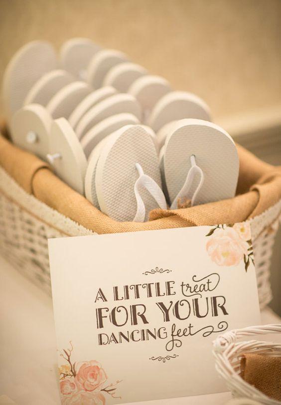 DIY weddings - flip flops