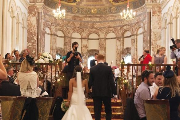 A classic black tie wedding