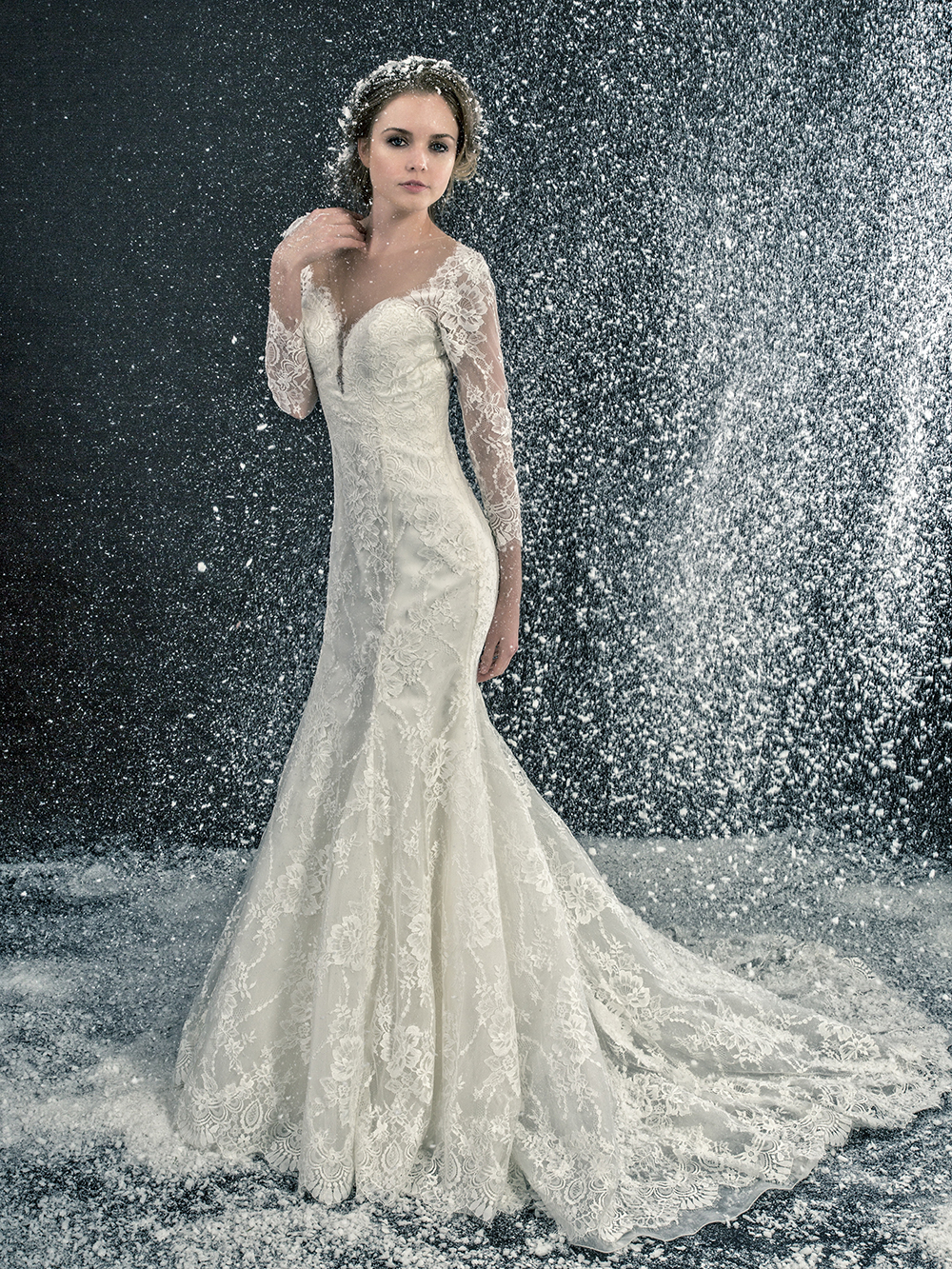 Winter wedding inspiration by enzoani love our wedding for Wedding dresses for winter