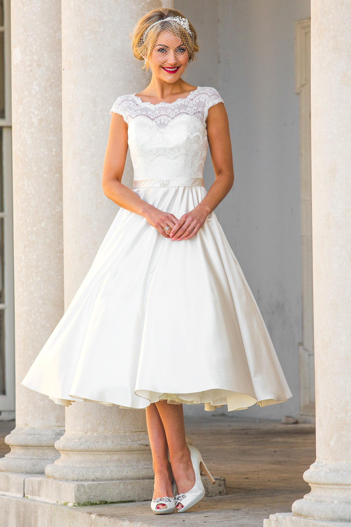 Stunning tea-length wedding dresses from Special Day