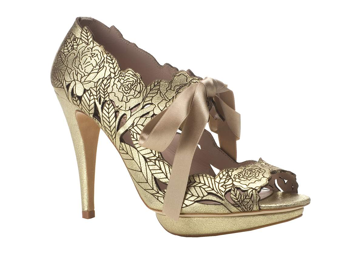 Metallic wedding shoes