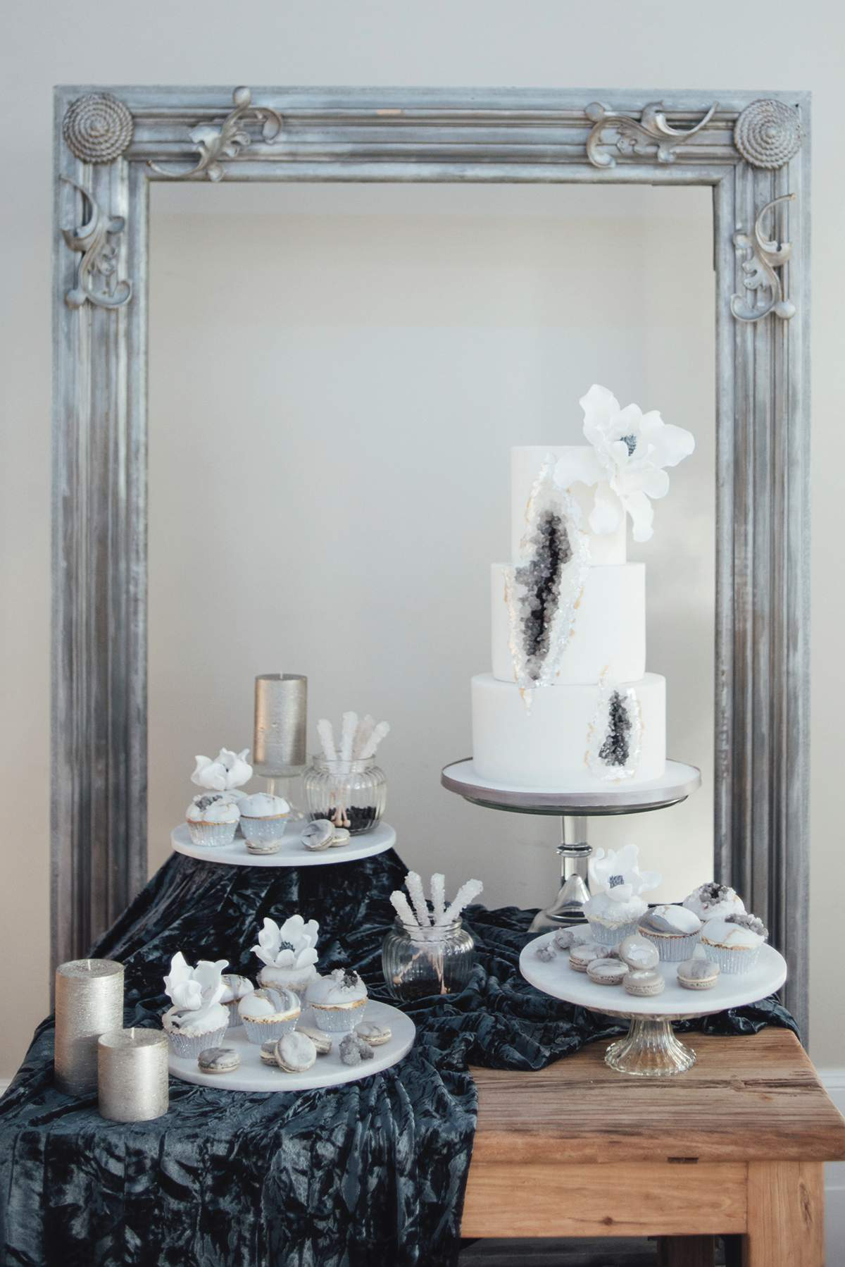 Luxe Winter Wonderland styled bridal shoot Deer Park Liberty Pearl Photography-86