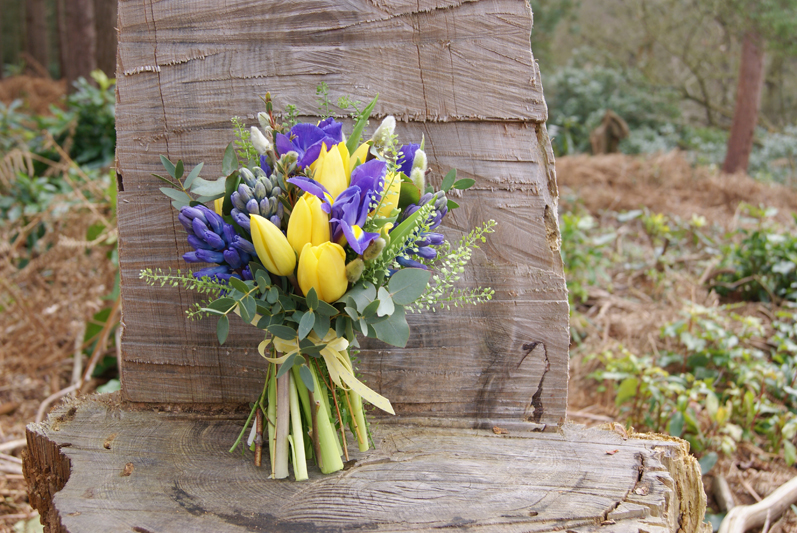 Tulip, hyacinth and iris bouquet. Image from flowersbyflorissimo.co.uk