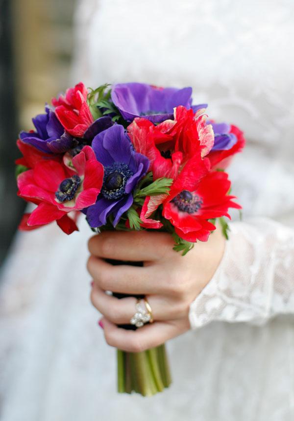 Anenome bouquet. Image by sarahandsimon.me