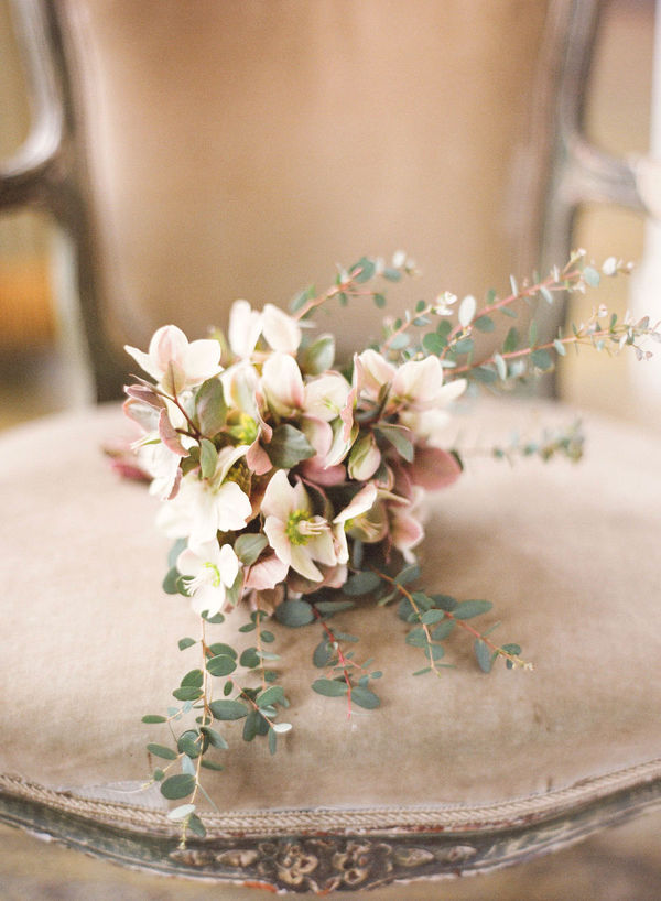 Hellebore and eucalyptus bouquet. Image by ktmerry.com