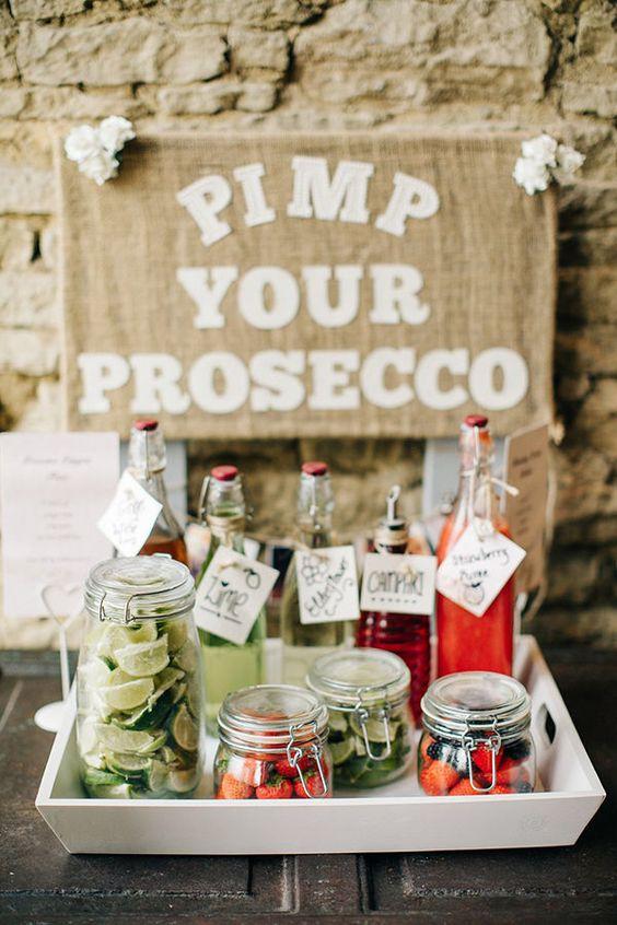 DIY weddings - pimp your prosecco