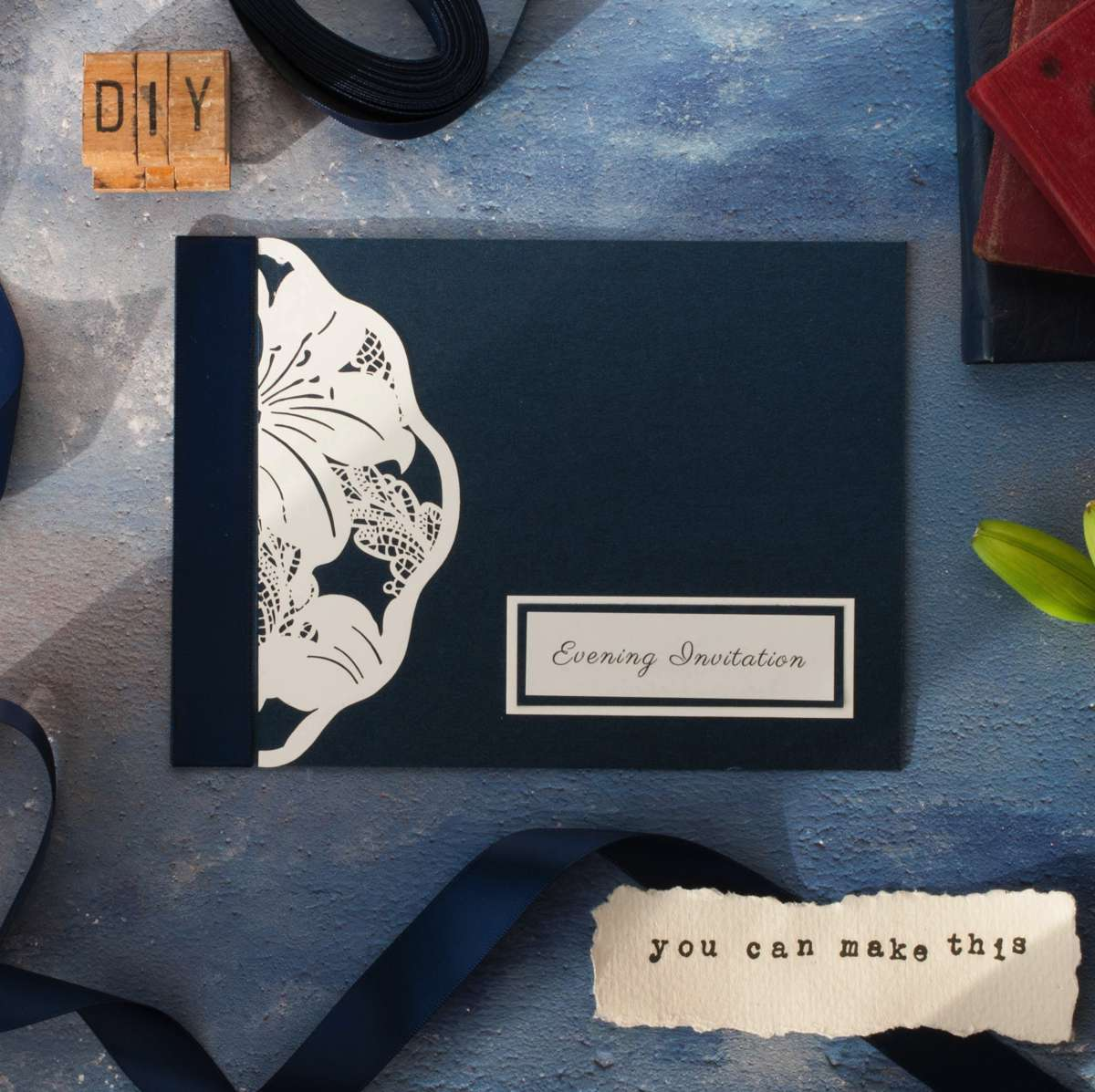 laser_cut_evening_invitation_in_navy_and_white