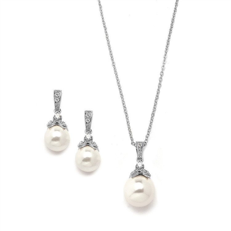 Bridal jewellery sets Anais_pearl_pendant_set_40.99