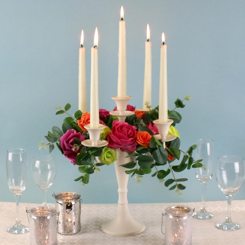 Centrepiece ideas - Cream Candelabra £19.99