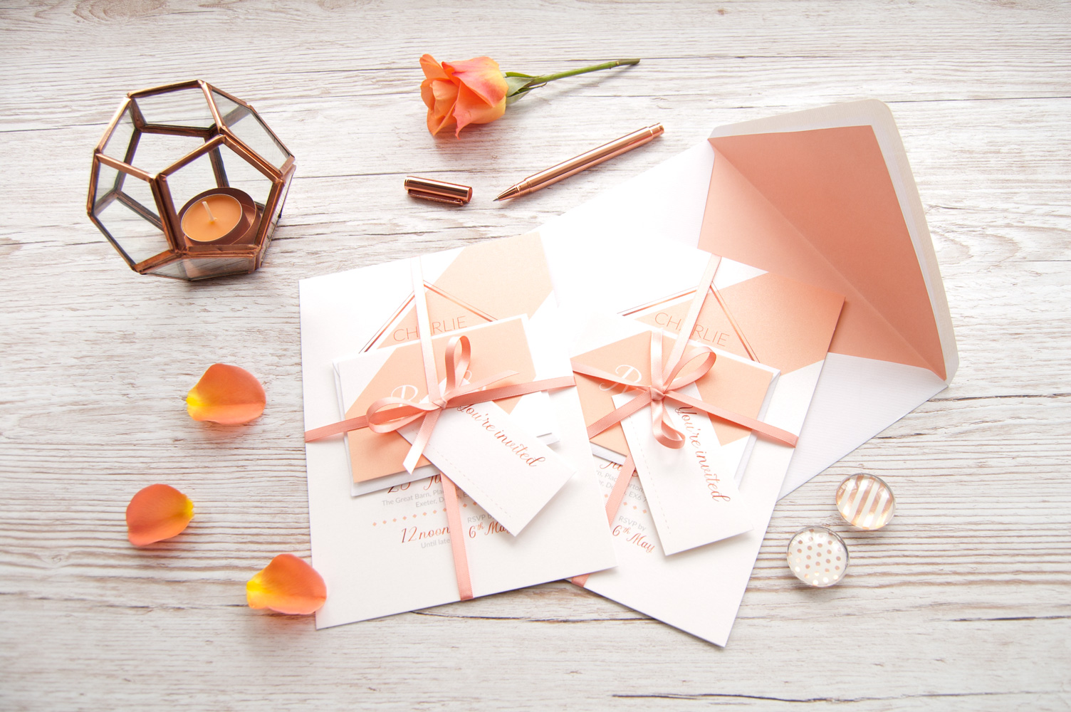 Wedding stationery from Borrow and Blue Design