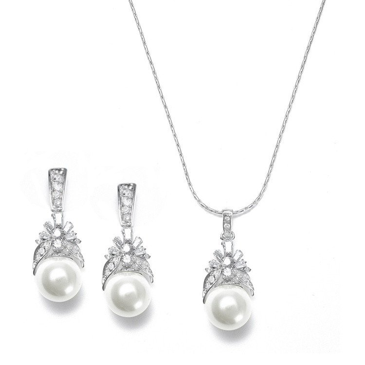Bridal jewellery sets Daisy_pearl_wedding_pendant_jewellery_set_54.99