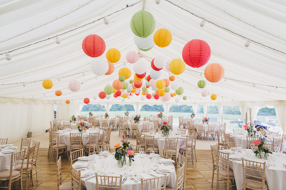 How to decorate a marquee wedding venue love our wedding for Pictures of wedding venues decorated