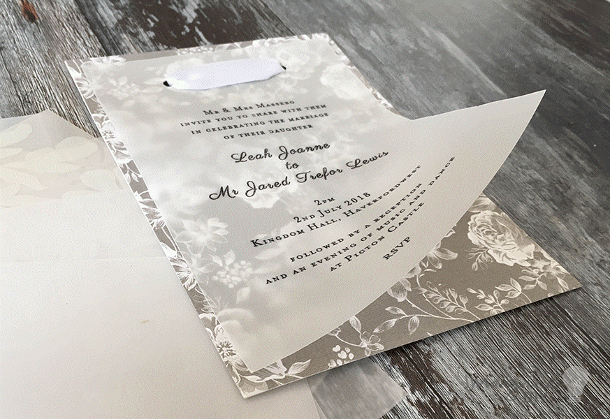 Invitation on vellum