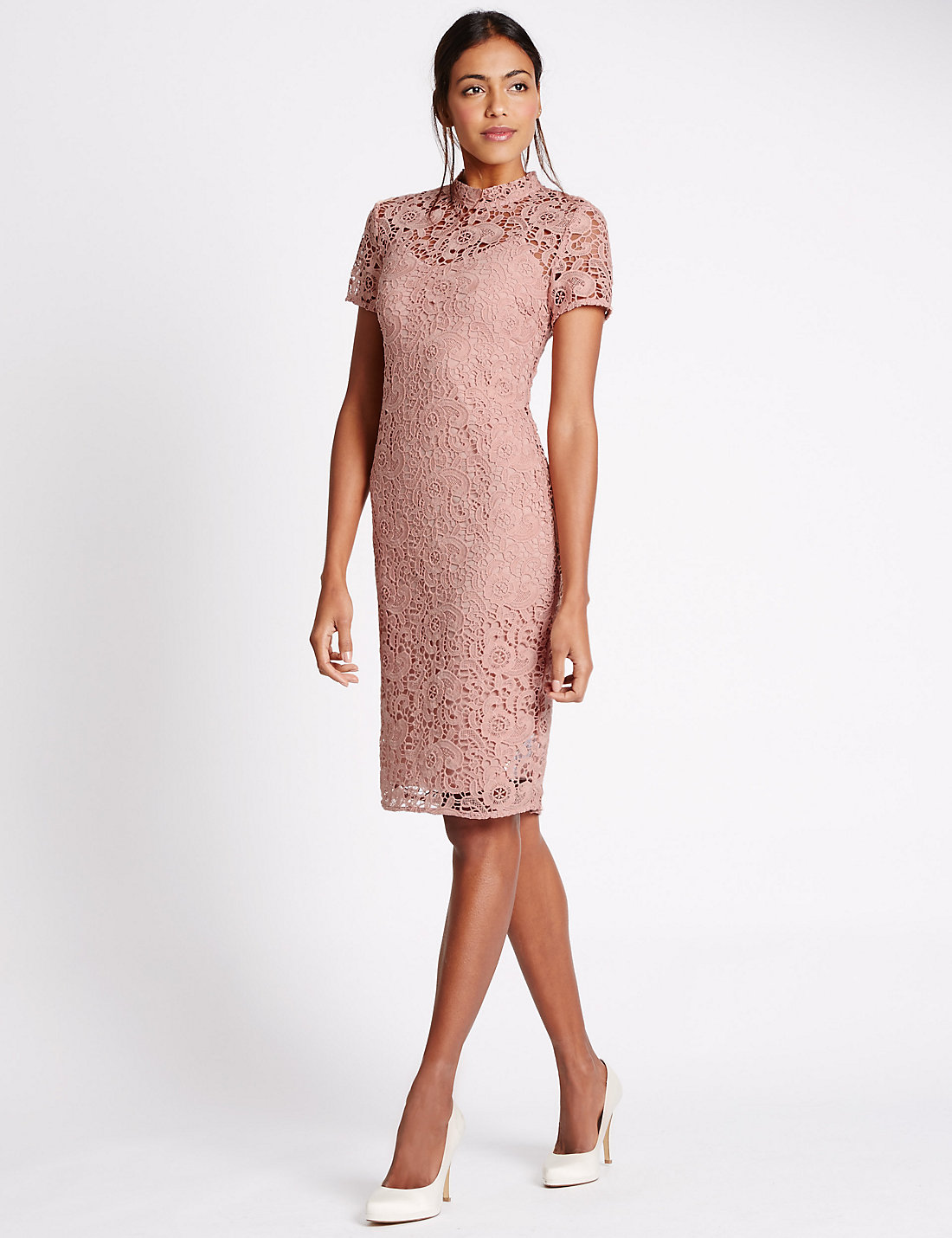 Great Floral Lace Dress, £79 From Mu0026S