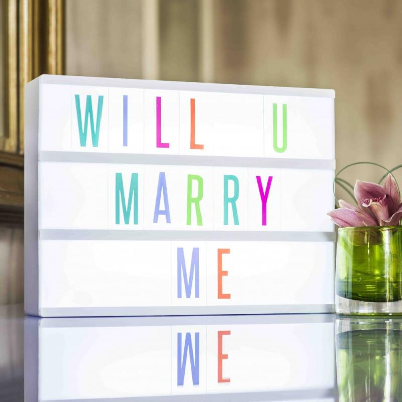 Centrepiece ideas - Multicoloured Light Box On Sale £23.99