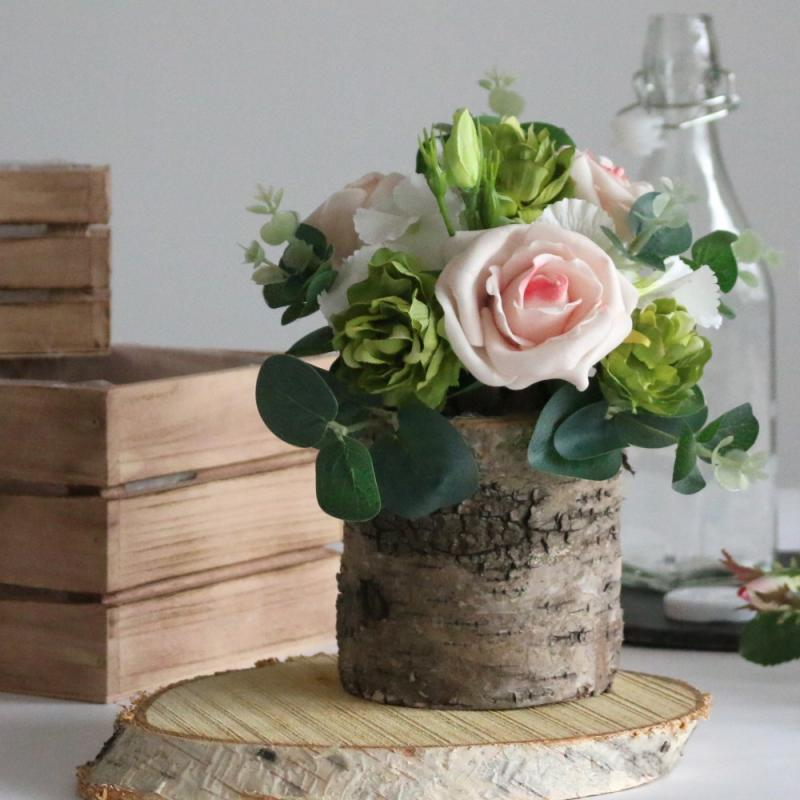 Centrepiece ideas - Round Bark Pot £2.49