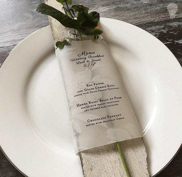Vellum menu