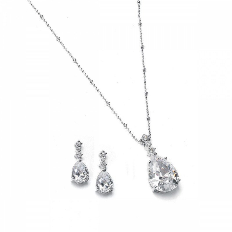 Bridal jewellery sets crystal-necklace-sets-elizabeth-crystal-necklace-set-39.99