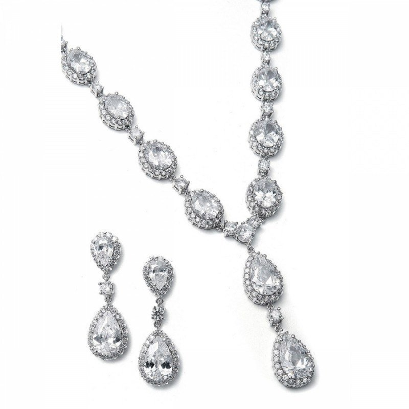 Bridal jewellery sets crystal-set-stephanie-zirconia-bridal-necklace-set-250