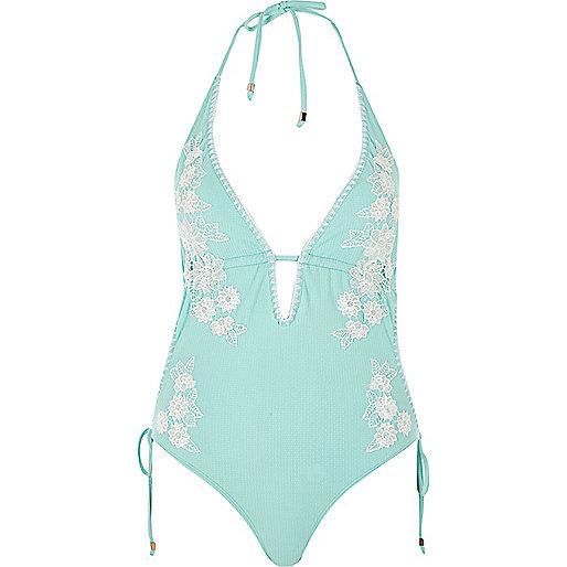 floral applique swimsuit £40
