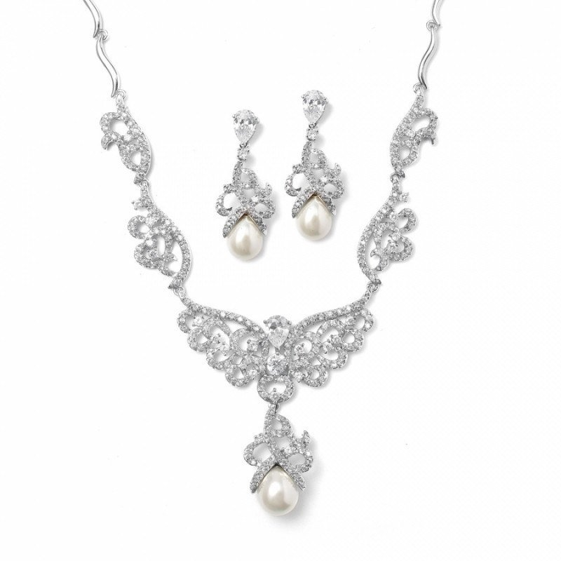 Bridal jewellery sets pearl-necklace-set-becca-bridal-necklace-earrings-set-134
